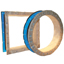 Round and rectangular Style 1094 PTFE single layer ducting expansion joint sample