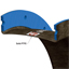 "18"" ID Style 1095 PTFE single layer ducting expansion joint cross-sectional detail"